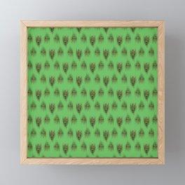 Green Peacock Feathers Framed Mini Art Print