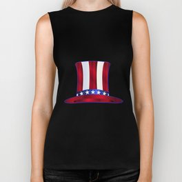 Uncle Sam's Top Hat Biker Tank