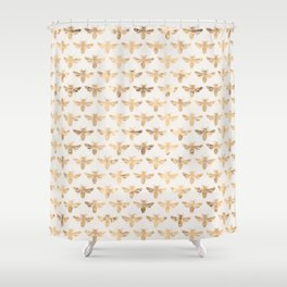 Honey Bees (Sand) Shower Curtain