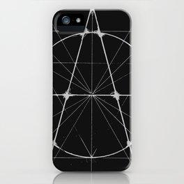 XXIst Century Anarchy Monochrome iPhone Case