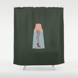Leg Lamp Shower Curtain