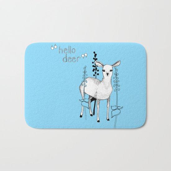 hello deer! Bath Mat