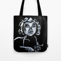 selena gomez Tote Bags featuring Selena Kyle by JezRebelle