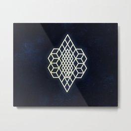 Diamond cubism Metal Print