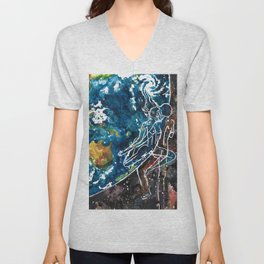 Mother Earth and Father Sky Make Love Unisex V-Neck