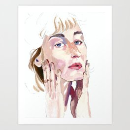 All the colors of her face Art Print