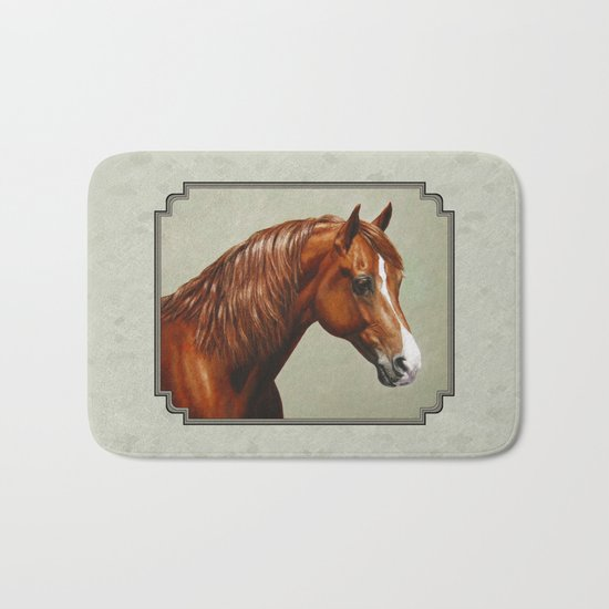 Chestnut Morgan Horse Bath Mat