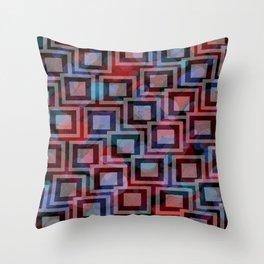 Black and White Squares Pattern 01 Throw Pillow