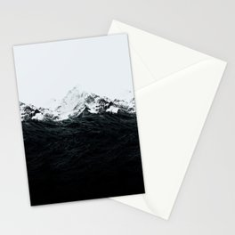 Those waves were like mountains Stationery Cards