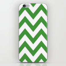 MEAN GREEN CHEVRON iPhone & iPod Skin