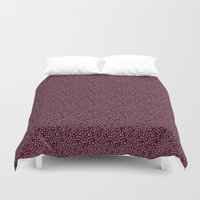 burgundy Duvet Covers featuring Burgundy by Lisi Fkz