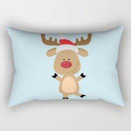 Dancing Rudolph Red Nosed Reindeer Merry Christmas Rectangular Pillow