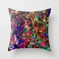 confetti Throw Pillows featuring confetti by ThysWyldeLyfe