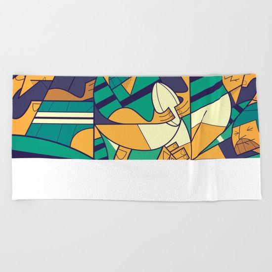 Rugby Beach Towel