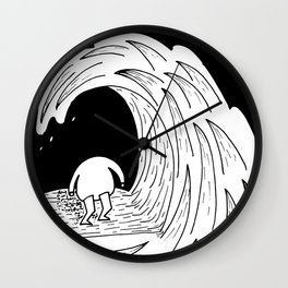 Enter the wave Wall Clock