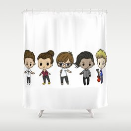 Boys on the Road Again Shower Curtain