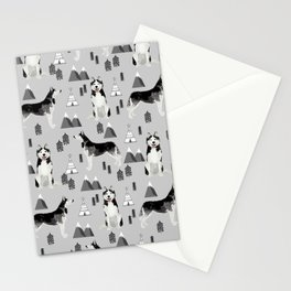 Husky siberian huskies mountains pet portrait dog dogs pet friendly dog breeds gifts Stationery Cards