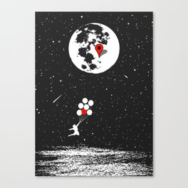 Destination Moon Canvas Print