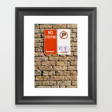 Signage Framed Art Print