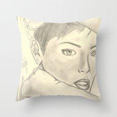 BadRiri Throw Pillow