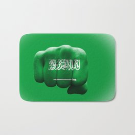 country flag of Saudi Arabia fist power war aggression Bath Mat