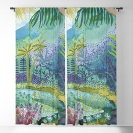 Jungle Paradise Watercolor Blackout Curtain