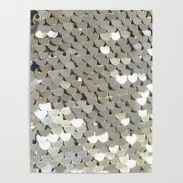 Shiny Silver Sequins Poster