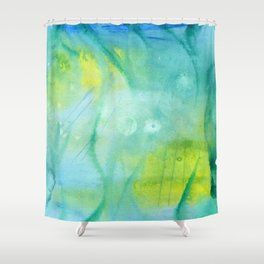 Mermaid´s Grotto Watercolor Shower Curtain