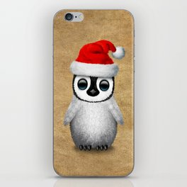 Baby Penguin Wearing a Santa Hat iPhone Skin