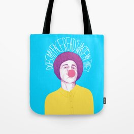 Does My Face Read Waste My Time Tote Bag