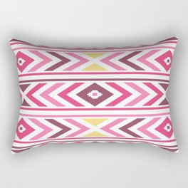 Modern Tribal Aztec – Mulberry Pink and Yellow Rectangular Pillow