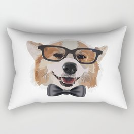 Smart Corgi Rectangular Pillow