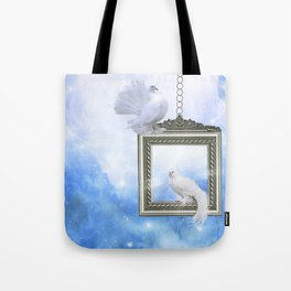 Peace Dove 2 Tote Bag