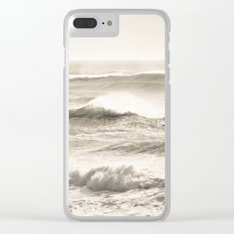 Windswept Waves Clear iPhone Case