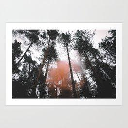 Smoke rising Art Print