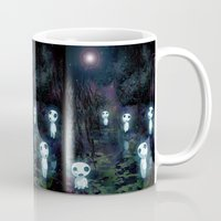 kodama Mugs featuring Princess Mononoke - The Kodama by pkarnold + The Cult Print Shop