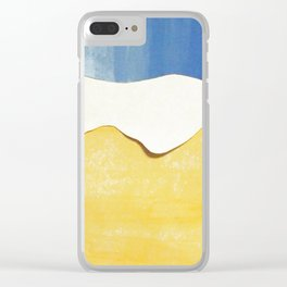 Galaxy/Earth collage Clear iPhone Case
