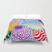 valentine Duvet Covers featuring Valentine by Bunyip Designs