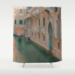 Gondolier Turquoise and Orange Shower Curtain