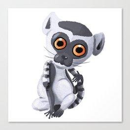 Lenny The Lemur Canvas Print