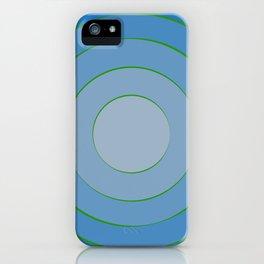 Blue hypnotism iPhone Case