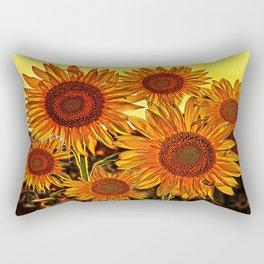 sunflowers family Rectangular Pillow