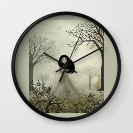Melancholy Girl Ides of March Wall Clock