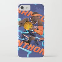nba iPhone & iPod Cases featuring NBA Stars: Carmelo Anthony by Akyanyme