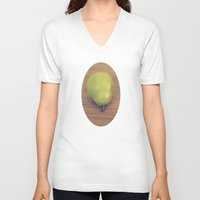 pear V-neck T-shirts featuring Pear by Jessica Torres Photography