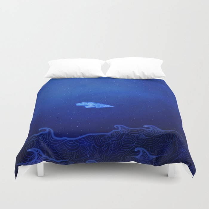 In The Aeroplane Over The Sea Duvet Cover