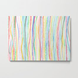 Vertical Pastel Stripes Metal Print