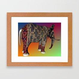 Carpet Elephant Framed Art Print