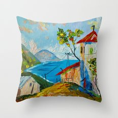 the village by the sea Throw Pillow