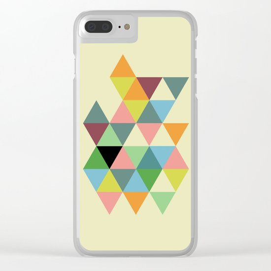 Abstract #585 Clear iPhone Case
